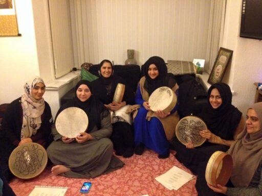 Online drumming session with Ladies and Children