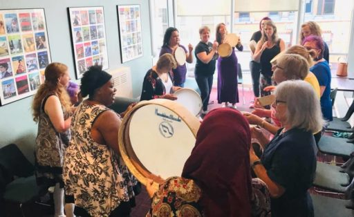 Frame Drumming and Singing with the Ladies….